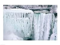 High angle view of a waterfall, American Falls, Niagara Falls, New York, USA Fine-Art Print
