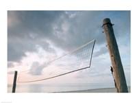 Volleyball net on the beach Fine-Art Print