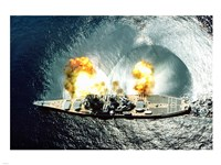 USS Iowa Firing Guns Fine-Art Print