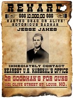 Jesse James Wanted Poster Fine-Art Print