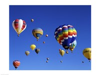 Hot Air Balloons Floating Away Fine-Art Print