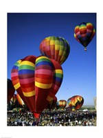 Hot air balloons at the Albuquerque International Balloon Fiesta, Albuquerque, New Mexico, USA Vertical Fine-Art Print