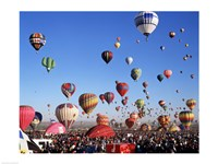 Group of Hot Air Balloons Taking Off Fine-Art Print