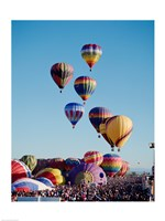 Low Angle View Of Colorful Hot Air Balloons In The Sky , Albuquerque International Balloon Fiesta, Albuquerque, New Mexico, USA Fine-Art Print