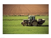 Tractor in a field, Newcastle, Ireland Fine-Art Print