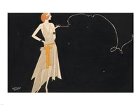 Woman Smoking Fine-Art Print