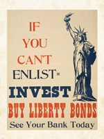If you Can't Enlist, Invest Fine-Art Print