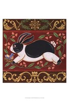 Folk Rabbit I Fine-Art Print