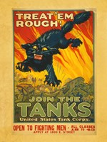 Treat Em Rough Join the Tanks Fine-Art Print