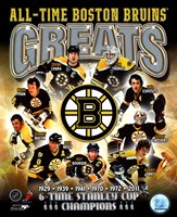 Boston Bruins All-Time Greats Composite Fine-Art Print