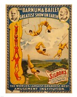 Trapeze Artists, Barnum & Bailey, 1896 Fine-Art Print