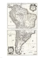 1730 Covens and Mortier Map of South America Fine-Art Print