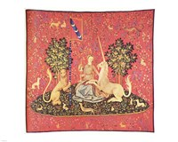 Maiden with Unicorn Tapestry Fine-Art Print