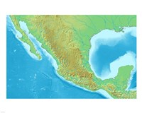 Map of Mexico Demis Fine-Art Print