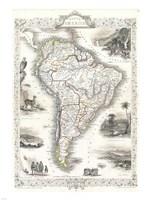 1850 Tallis Map of South America Fine-Art Print