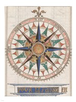 Guillaume Brouscon Compass France, 1543 Fine-Art Print
