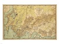 Mapa da Cidade do Rio de Janeiro - 1929 Fine-Art Print