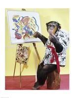 Monkey Artist Fine-Art Print
