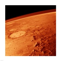 Smiley Face Crater on Mars Fine-Art Print