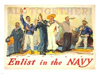 All Together, Enlist in the Navy Fine-Art Print