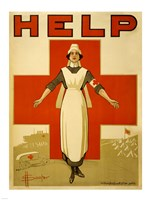 Help, Red Cross Nurse Fine-Art Print