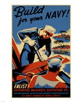 Build for Your Navy Fine-Art Print