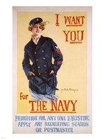 I Want You for the Navy Fine-Art Print