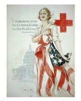 Harrison Fisher WWI American Red Cross Poster Fine-Art Print
