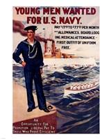 Navy Recruiting Poster, 1909 Fine-Art Print