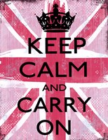 Keep Calm And Carry On 2 Fine-Art Print