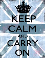 Keep Calm And Carry On 4 Fine-Art Print