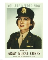 You are Needed Now. Join the Army Nurse Corps Fine-Art Print