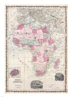 1862 Johnson Map of Africa Fine-Art Print