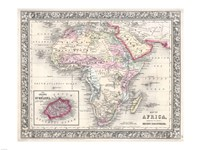 1864 Mitchell Map of Africa Fine-Art Print