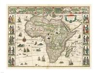 Africa 1635, Willem Janszoon Blaeu Fine-Art Print