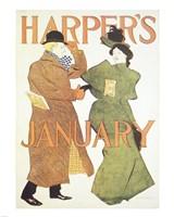 Brooklyn Museum Harper's Poster January 1895  Edward Penfield Fine-Art Print