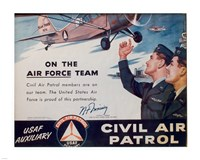 CAP On the Air Force Team Poster Fine-Art Print