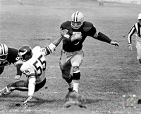 Paul Hornung action Fine-Art Print