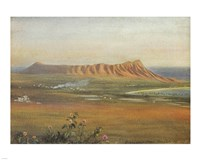 Edward Clifford (1844-1907) - 'DiamondHead, Honolulu', watercolor painting, 1888 Fine-Art Print