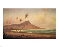 Gideon Jacques Denny - 'Waikiki Beach', oil on canvas, 1868 Fine-Art Print