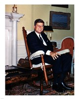 JFK in Yellow Oval Room 1962 Fine-Art Print