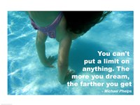 No Limits - Swimming Quote Fine-Art Print