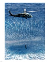 US Navy Search and Rescue Diver Fine-Art Print