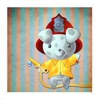 Little Firemans Helper Fine-Art Print