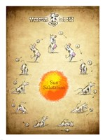 Yoga Cow Sun Salutation Fine-Art Print