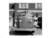 USA, New York, East Meadow, Fire engine Fine-Art Print
