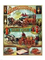 Fire Extinguisher Mfg. Co., Advertising Poster, ca. 1890 Fine-Art Print