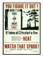 You Figure it out, Fuel + Air + Heat = Fire Fine-Art Print