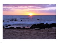 Keawakapu Beach Sunset Long Exposure Fine-Art Print