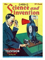 Science and Invention Nov 1928 Cover Fine-Art Print